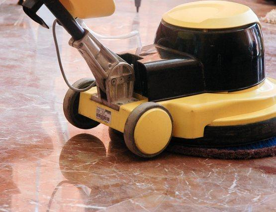 Tile and grout cleaning machine for natural stones